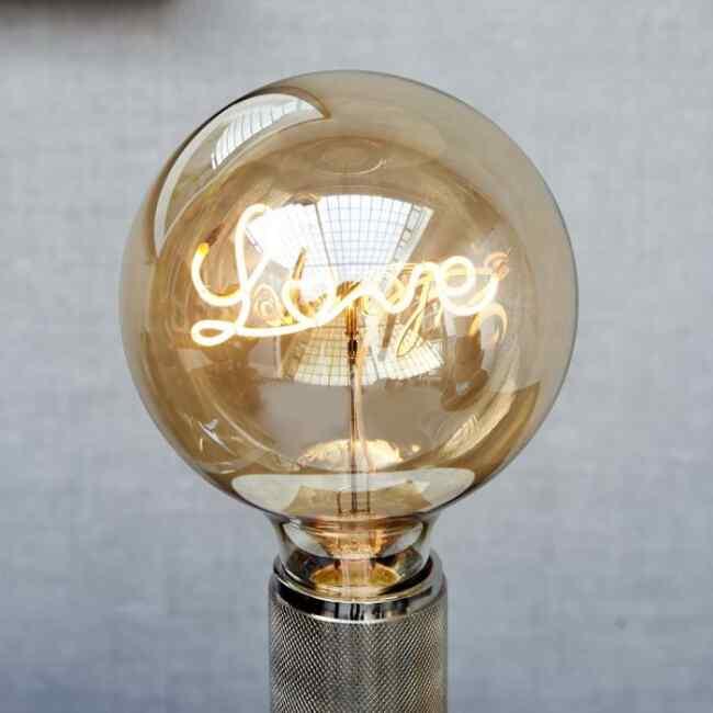 Glühbirne LOVE